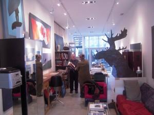 Charles & Shirley Thomson in his studio Nov 08