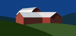 red white barn