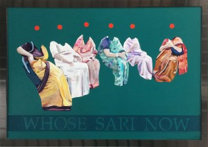 WHOSE SARI NOW ptg 44x64 in, 110x160 cm